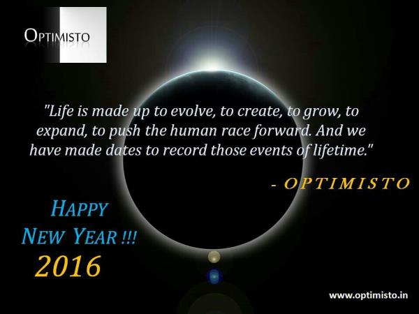 HAPPY NEW YEAR 2016 !!!  With Love !  Optimisto  Personal Development Training in Delhi - by Professional & Personal Development Program | Optimisto, Delhi