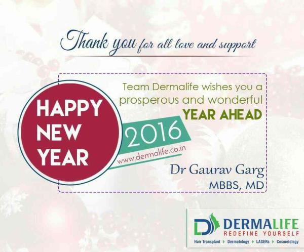 #DermaLife Skin and Hair Clinic wishes A Very Happy and Prosperous New Year  - by Dermalife - Redefine Yourself, New Delhi