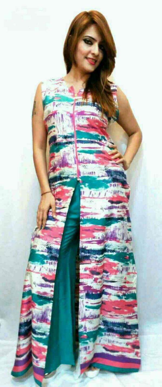 New fancy crap kurti of cotton rayon fabrics  - by Gurukrupa Collection , Mumbai