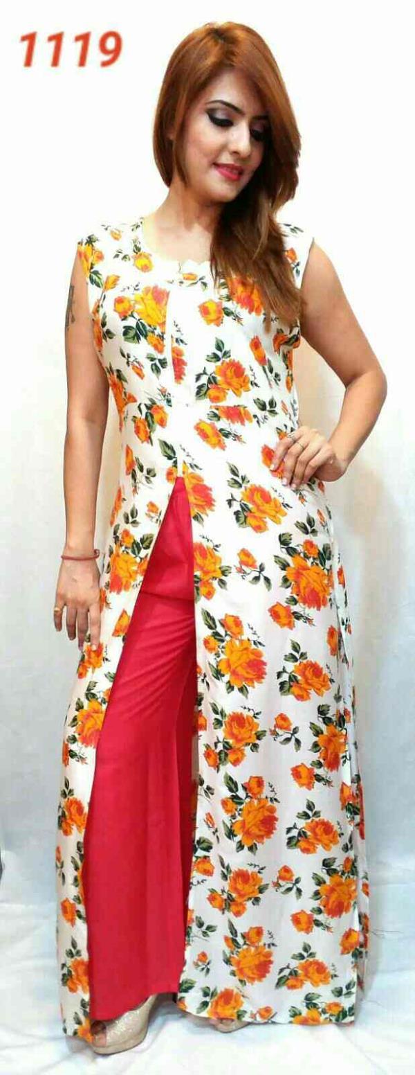 New arrivals crap kurti of rayon fabric  - by Gurukrupa Collection , Mumbai