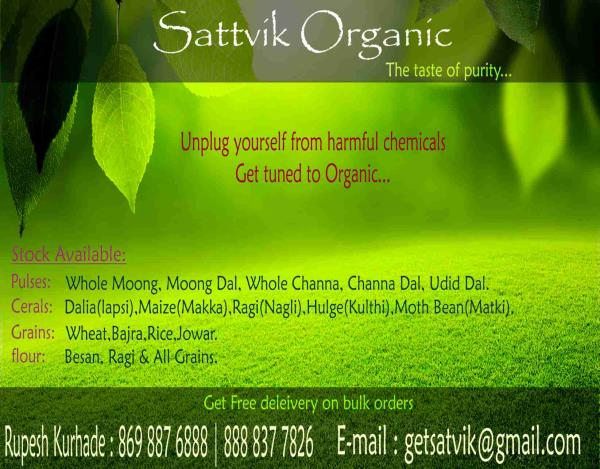 Grab your sattvik products online. #know your farmer #know your food. . - by Sattvik Organic, Nashik