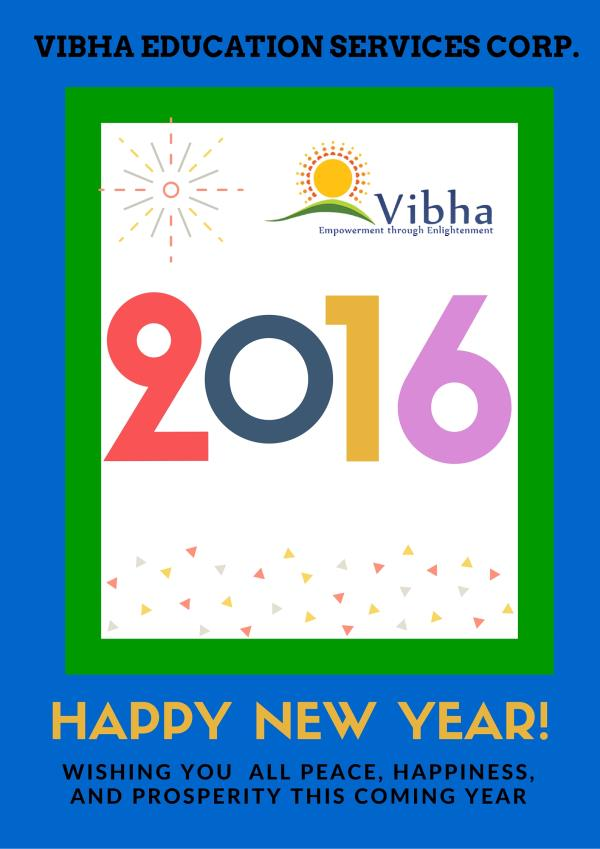 VIbha Education Services Corp. wishes all A  Happy New Year - by Vibha Education Services Corp, Bangalore