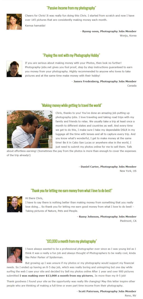 What our subscribers have to say  http://tinyurl.com/o6e5myt - by Photography Jobs, Mumbai