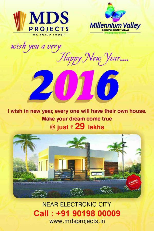 happy new year  - by MDS projects, Bangalore