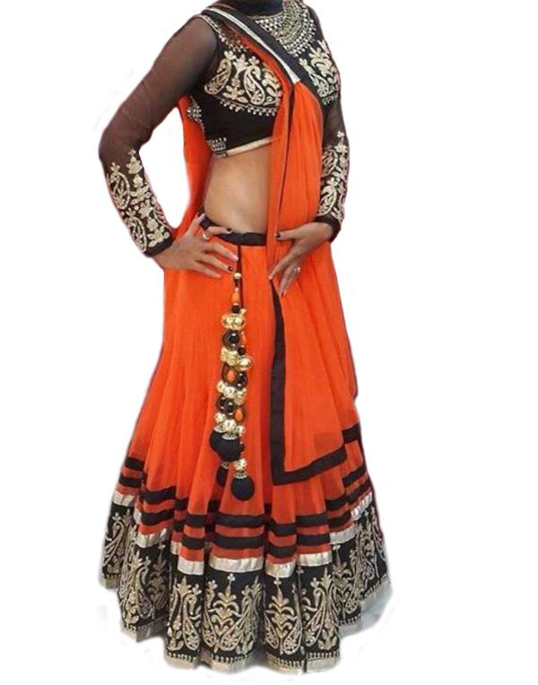 Roshni Fashions Self Design Women's Lehenga, Choli and Dupatta Set - by Roshni Fashions, SURAT