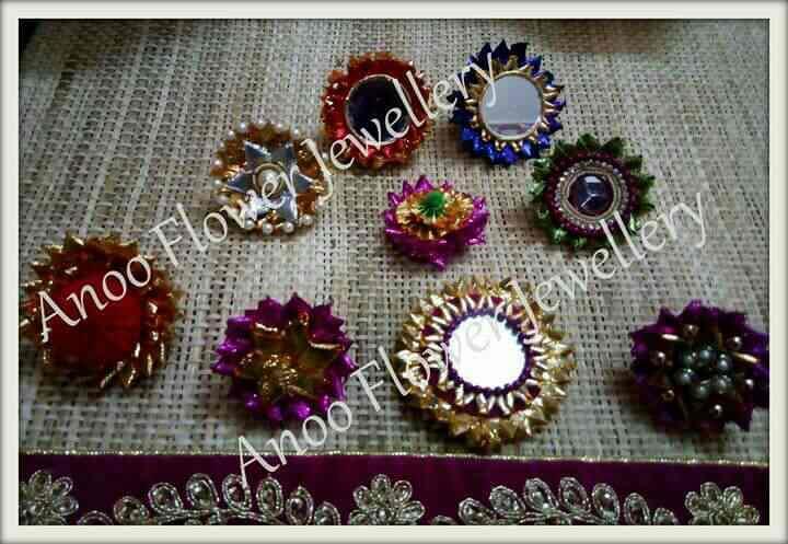Gota flower jewellery for mehendi giveaway - by Anoo Flower jewellery, Mumbai