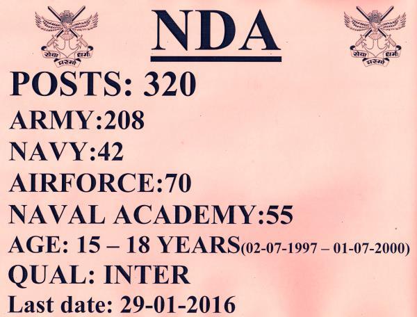 NDA NEW NOTIFICATION - by Youth Choice E Zone, SRIKAKULAM