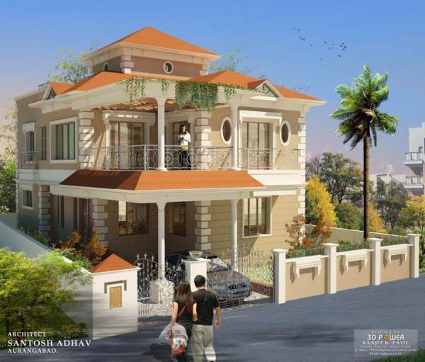 Modern Residential Bungalow Architects in Aurangabad - by Signature Architects & Interior Designers, Aurangabad