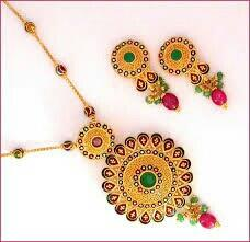 necklace set with ear rings - by Shri Narayana Pearls And Jewellery, Hyderabad