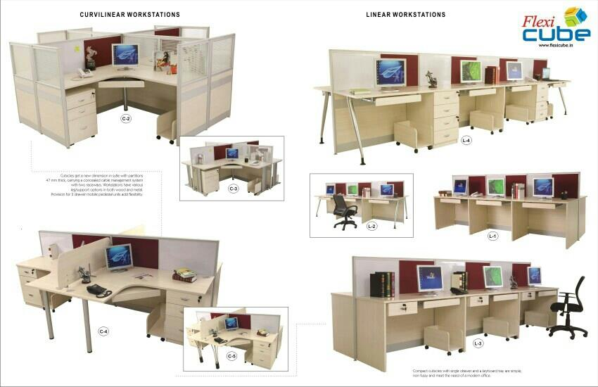 office modular furniture - by Flexi Cube, Hyderabad