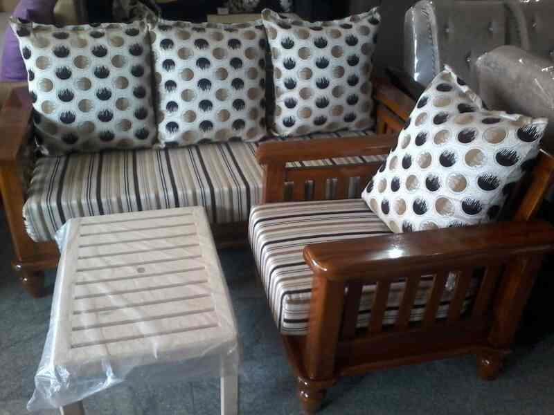 wooden sofa set with best price - by Rd Furniture Mall, Hyderabad