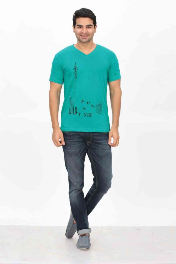 Save the Wild T Shirt in Fancy Printerd V Neck T shirts - by Indian Engineer, Tiruppur