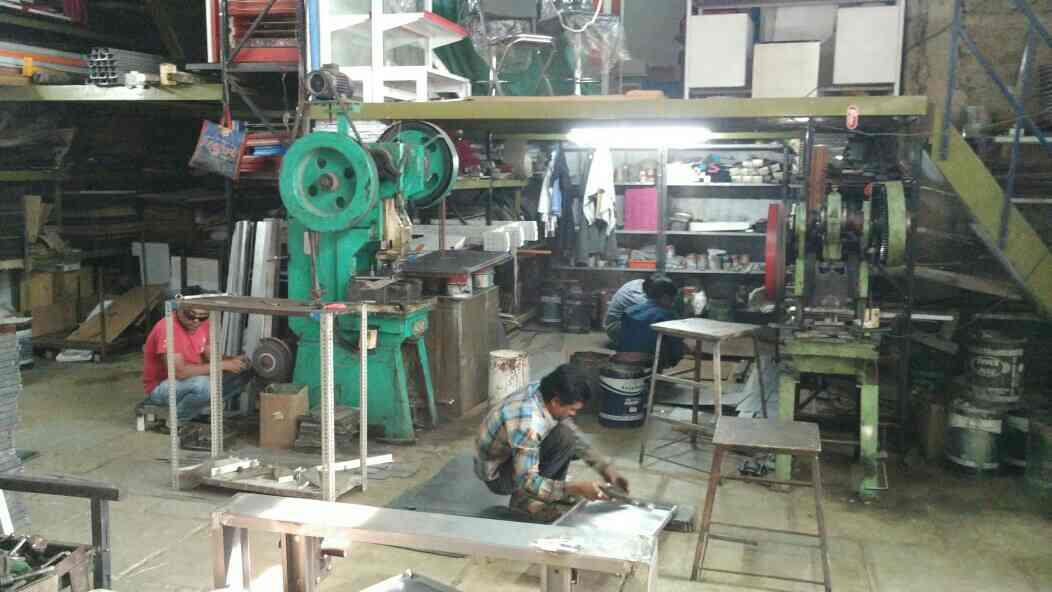 our team working for heavy duty racks. - by Krishna Interio, Ahmedabad