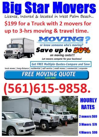 Just published my BrandYourself profile, do me a favor and let me know what you think! http://west-palm-beach-moving-companies.brandyourself.com/?utm_source=tsProfile - by Big Star Moving from $199 serving South Florida - West Palm Beach movers, West Palm Beach