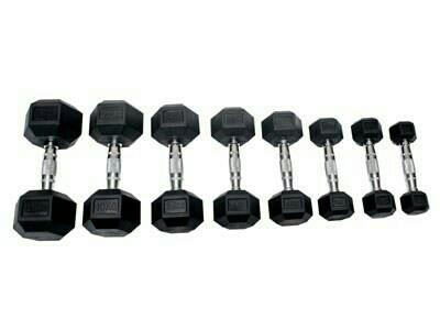 Rubber Chrome Dumbbells with Rubber Head Pr kgs only one Rs, 115 - by Rambo Fitness Equipment , Ahmedabad