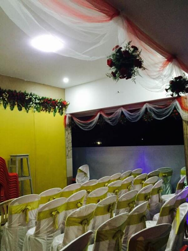 Backdrop done for holy communion function for a sweet little girl betsy💃👑👗🌟✨💫 - by Samprathaaya , Dindigul