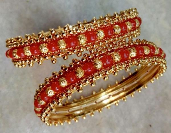 Imitation Gold Bangles Pola Design - by SHARDA SHRINGAR ART JEWELLERS, Mumbai