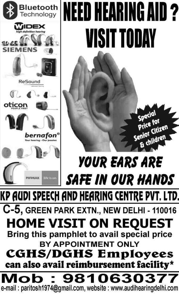 introducing latest invisible (iic) hearing aids it's so small no one would able to judge if wearing hearing aid and now with Bluetooth technology ...take an Appointment today at 9810630377 - by Audi Speech & Hearing Center Pvt Ltd, Mewat