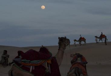 Sun Set in Jaisalmer Dunes: People Enjoys it's Beauty and Peace - by Oasis Camp Sam Resort, Jaisalmer