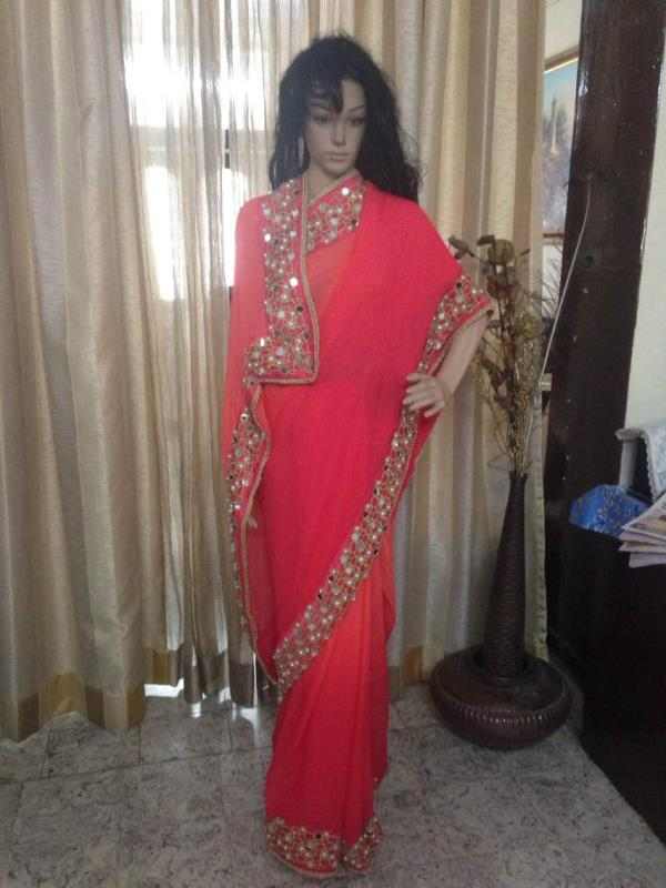 INR 5500 with gold blouse - by Saakruthi, Hyderabad