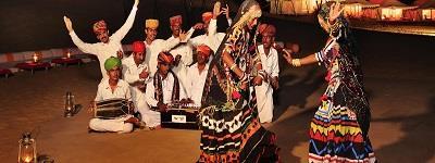 Folk Music and Dance: Evenings can be fun-filled with live folk music and dance.  - by Hotel Prince & Resort, Jaisalmer