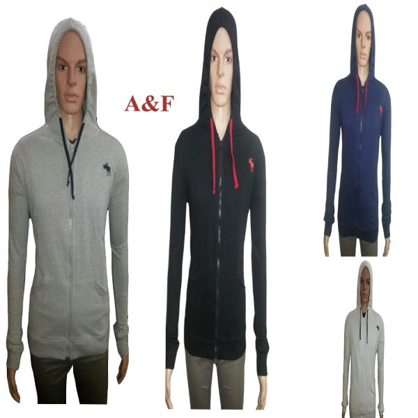 Abercrombie & Fitch (A& F) Sweatshirt MRP Rs.990/- 50% Discount Sizes available 38, 40, 42 , 44 (M, L, XL, XXL).4 Colors vailable Black, Dark Blue, Cream & Grey Milange  . If interested you can call / Whatsapp on 9390246000 or mail on cloth - by CLOTHING DECK, Hyderabad