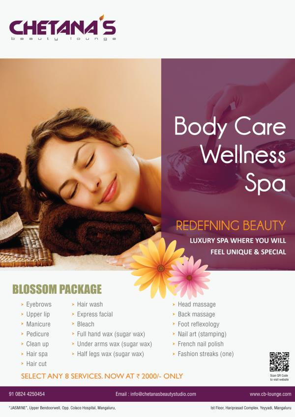 Redefining Beauty !!! BLOSSOM PACKAGE now at Rs. 2000/- only !!!!  - by Chetana's Beauty Lounge, Mangalore