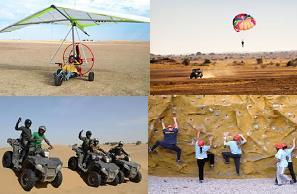 Fun Activities :  Para motoring  Parasailing  Desert Biking  Rock Clibing - by Tao's Lakhamana Desert Camp Jaisalmer, Jaisalmer