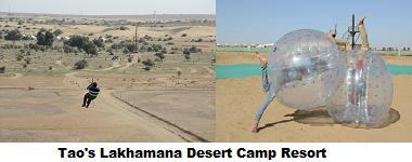 Super Excitement in Desert   Body Zorbing Zipline - by Tao's Lakhamana Desert Camp Jaisalmer, Jaisalmer