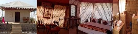 Royal Tents: Luxury Swiss Tents with Mini Bar and Room Service and 24 Hour Security and Electricity Backup and Modern washroom   - by Tao's Lakhamana Desert Camp Jaisalmer, Jaisalmer