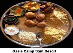 Rajasthani Food in Resort - by Oasis Camp Sam Resort, Jaisalmer