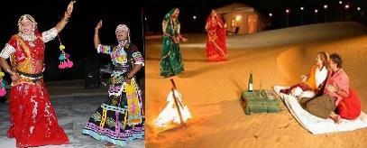 Relaxing and Enjoy with Rajasthani Folk Dance by Kalbeliya Dancers   - by Oasis Camp Sam Resort, Jaisalmer