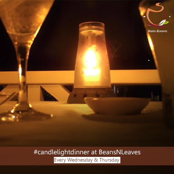 """Top 5 Reasons to do a #candlelightdinner at #BeansNLeaves  #Reason4: It is popularly said, """"the easiest way to a man's heart, is through his stomach"""". Remember great presentation and great food directly translate into a memorable date.  Bea - by Beans And Leaves, Ahmedabad"""