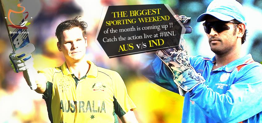 India are at Australia to play the Kangaroos Down Under once again!! Get ready to enjoy the match on screen while munching your favorite food! Aus v/s India ODI Cricket, 17th January at 8.50am onwards  #BeansNLeaves #SpectatorsThrill  - by Beans And Leaves, Ahmedabad