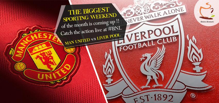 The traditional arch rivals will be sweating it out at Old Trafford. Catch the live action at Beans & Leaves.  Man United v/s Liverpool - Premier League: 7:35 pm onward!  #BeansNLeaves #SpectatorsThrill #Cricket #Football #Mad - by Beans And Leaves, Ahmedabad