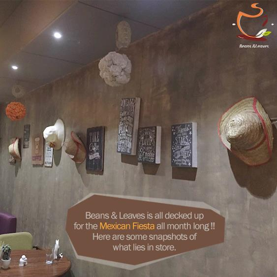 Beans & Leaves is all decked up for the Mexican Fiesta all month long !! We are bringing you the best of Mexican food, fun facts, live cricket & football screenings and more !! Here are some snapshots of what lies in store. #BeansNLeaves - by Beans And Leaves, Ahmedabad