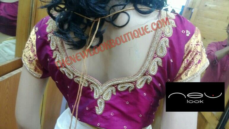 Motifs work blouse..   - by NEW LOOK BOUTIQUE, Bangalore
