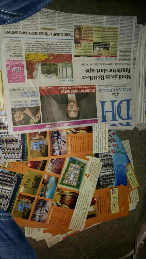news paper advertising.  like news paper insertion  . call. 9742096077 - by Global Advertising Agency, Bangalore