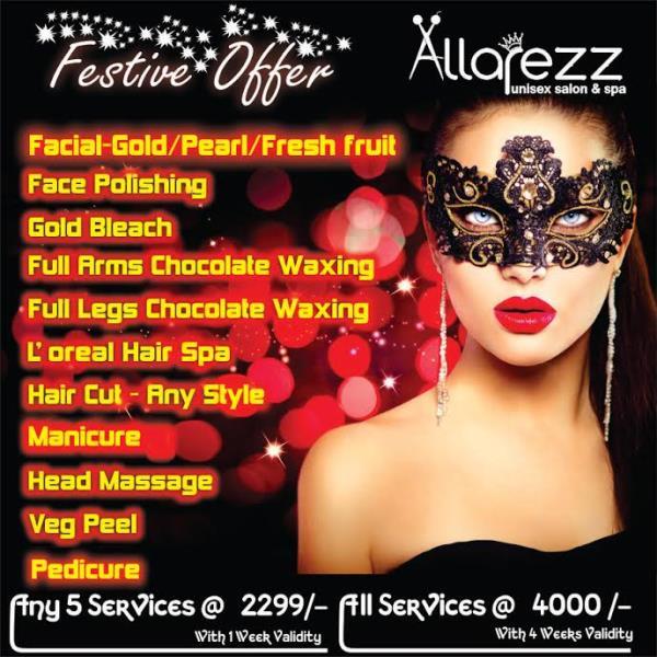 Irresistible Offer... Grab Now - by Allarezz Unisex Salon & Spa, Bangalore