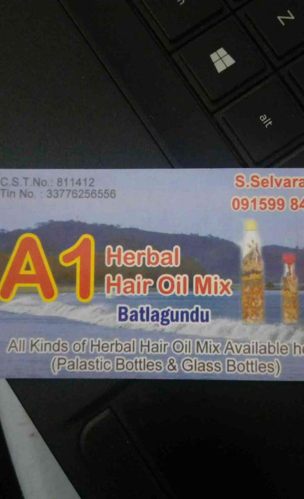 a1herbal hair oil mix in tamilnadu - by A1 hearbal Hair Oil 09159984954, batlagundu