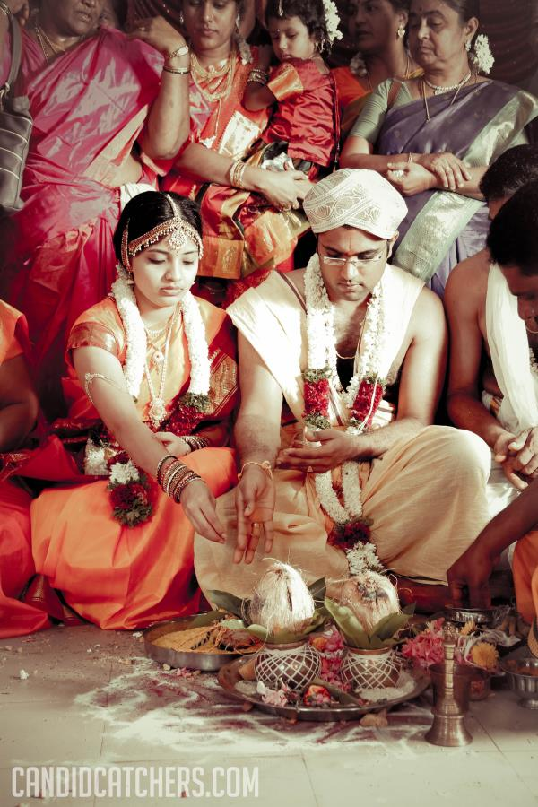 a shot from a sourashatra wedding ceremony in Chennai  - by candidcatchers, Chennai