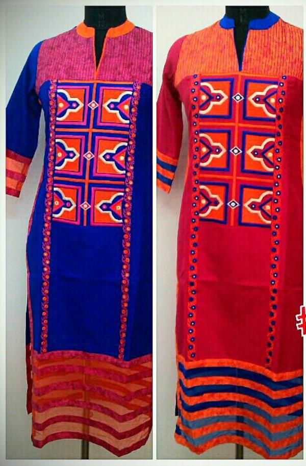 New Arrivals cotton collection in a royal blue and in a pink colour  - by Gurukrupa Collection, Mumbai