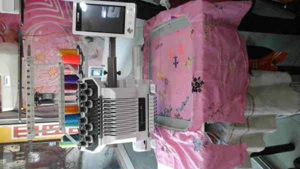 PR 1000 , 10 NEEDLE full computerised embroidery sewing machine with , led light , touch screen display ,  USB port , editing , cut work, mirror copy ..... You can also do shoe , cap , embroidery also  - by Sakthi Enterprises, Chennai