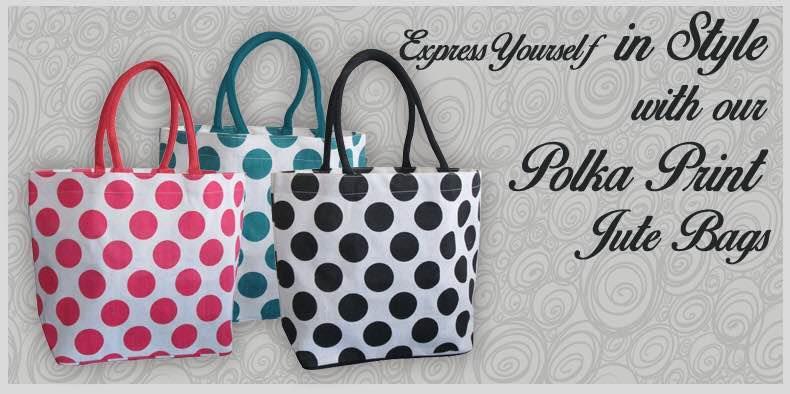 Juteberry jute bags #polkadotbags #ecobags #eco #jute #jutebags #green #greenearth #makeinindia   - by Juteberry, Kolkata