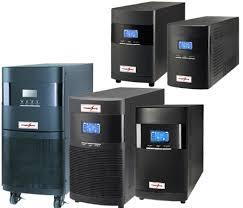 An online UPS system is one where the UPS output is always supplying current to the load. This is opposed to the older and cheaper style that only switches the UPS output to the load when the mains fail. This causes a momentary spike that c - by Expert Power Technology, Delhi