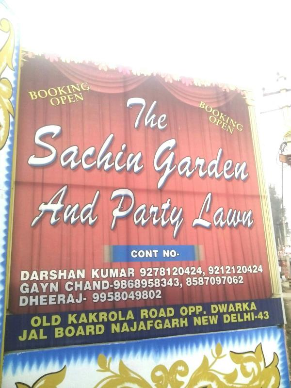 Visit the perfect place in town for hosting your most memorable occasions - by The Sachin Garden & Party Lawn, Delhi