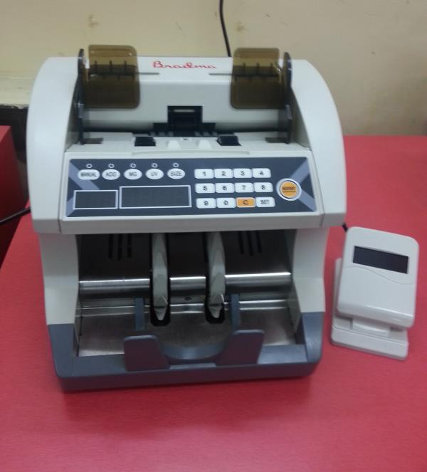 LOOSE NOTE COUNTING MACHINE   MODEL: BRADMA 5022 HD	                           		   (With UV, MG & IR)		  MAIN FEATURES • Friction Feed Technology • Small and robust –counter top application • Fast & accurate counting (up to 1200 notes/min) - by Ktron Systems, Bangalore
