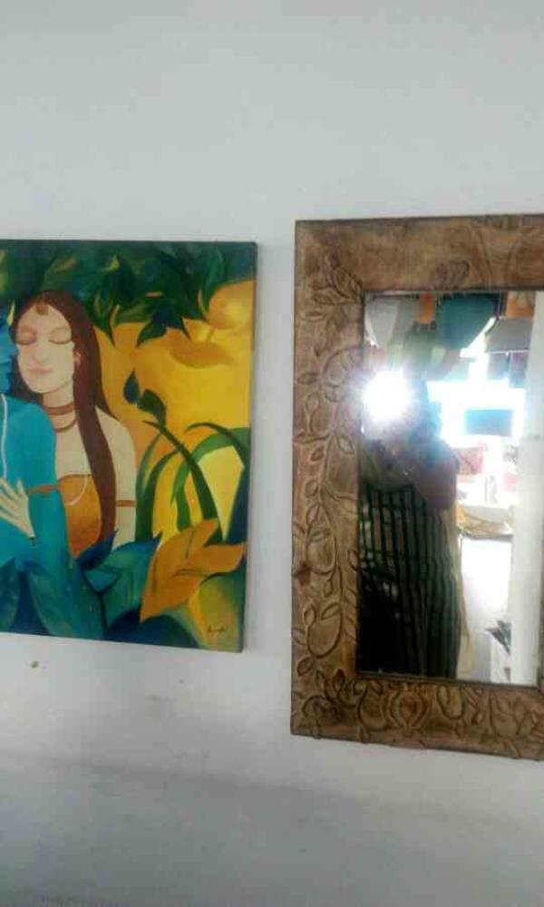 painting of Radha krishna predicting lovely couples..@ beyond home solutions - by Beyond Home Solutions, Hyderabad