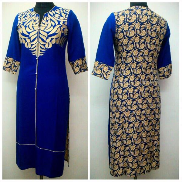 Very exclusive cotton rayon  in royal blue colour  - by Gurukrupa Collection, Mumbai