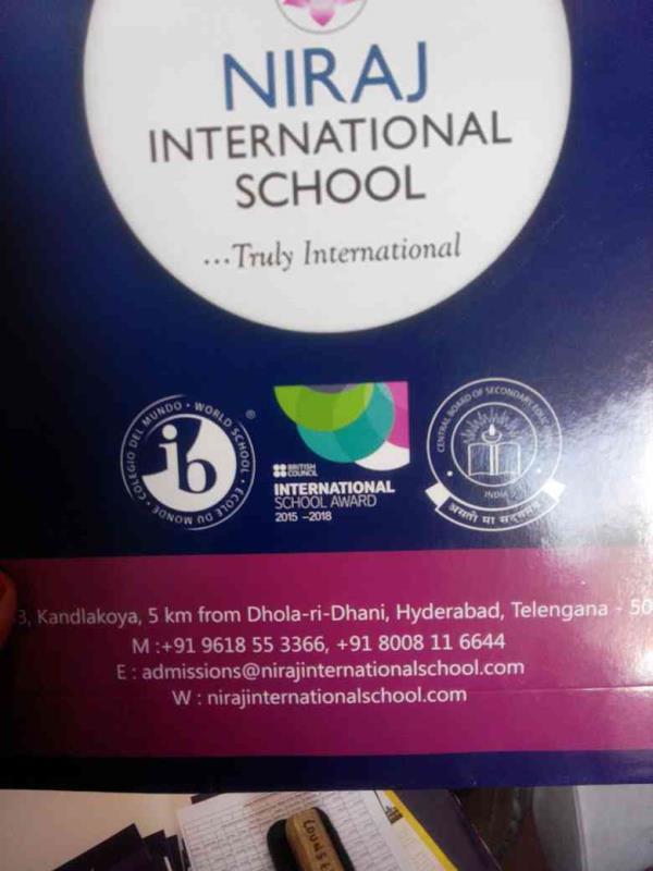 Best Internationl School at Hyderabad - by Niraj Internatiinal School, Hyderabad
